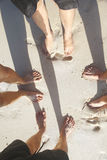 Vänner på strandsemester Royaltyfri Bild