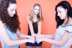 vänner tre Royaltyfria Foton