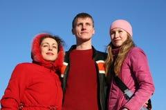 vänner tre Royaltyfri Fotografi