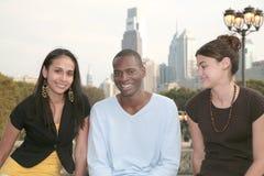 vänner tre tillsammans Royaltyfria Bilder