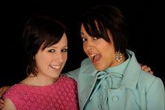 vänner två kvinnor Royaltyfri Fotografi