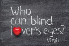 Väns ögon Virgil arkivbild