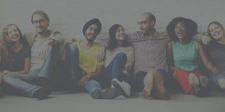 Vänservice Team Unity Friendship Concept royaltyfri bild