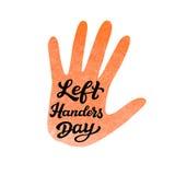 Vänster affisch för Handers dagtypografi vektor illustrationer