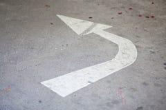 vänster vänd för pil Fotografering för Bildbyråer
