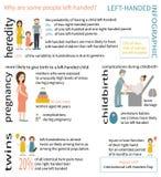 Vänsterhänta Infographic Royaltyfri Bild
