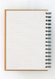 vänstert anteckningsboksidapapper återanvänder Arkivfoto