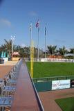 Vänstra delen av ytterfältetojusta spelet Pole på Hammond Stadium Royaltyfri Bild