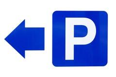 vänstra parkeringsvägmärken Royaltyfri Foto