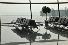 vänta för flygplatsområde Arkivbilder
