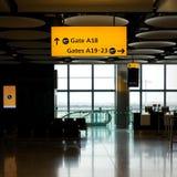 vänta för flygplatsvardagsrum Arkivfoto