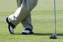 vänta för golfare royaltyfri foto