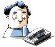 vänta för telefon stock illustrationer