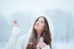 Vänta på snön Arkivfoton