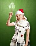 Väntande jul för kvinna Royaltyfri Fotografi