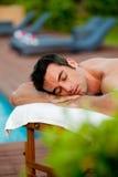 Väntande massage royaltyfri fotografi