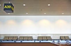 Väntande område för flygplats. Royaltyfri Bild