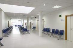 Väntande område för offentlig byggnad Inre detalj för sjukhus inget royaltyfria bilder