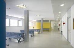 Väntande område för offentlig byggnad Inre detalj för sjukhus inget arkivbild