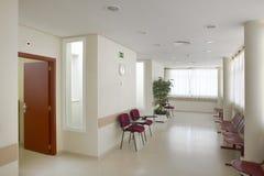 Väntande område för offentlig byggnad Inre detalj för sjukhus inget royaltyfria foton