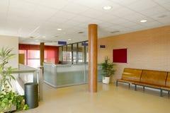 Väntande område för offentlig byggnad Inre detalj för sjukhus inget royaltyfri foto