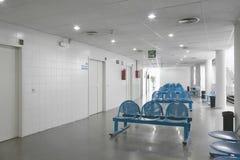 Väntande område för offentlig byggnad Inre detalj för sjukhus inget arkivfoton