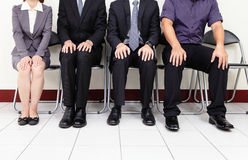 Väntande på jobbintervju för folk Royaltyfria Foton