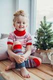 Väntande på jul Arkivbild