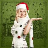 Väntande på jul för kvinna Arkivbilder
