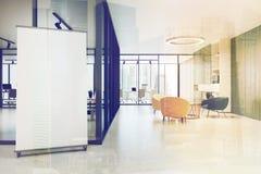 Väntande rum för kontor med en affisch vektor illustrationer
