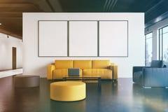 Väntande rum för kontor: soffan galleri, beklär tonat stock illustrationer