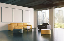 Väntande rum för kontor: soffan galleri, sid tonat stock illustrationer