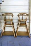 Väntande stolar Fotografering för Bildbyråer