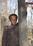 Väntande svart flicka Arkivfoton