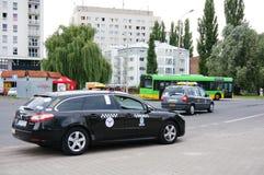 Väntande taxi Arkivbilder