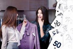 Vänunder på speciala priser på försäljning arkivbild