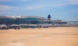 värd för international för flygplatsdallas fort Arkivfoto