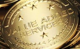 Värde - ökad service Arkivbild