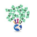 Värdefull dollarvärld stock illustrationer