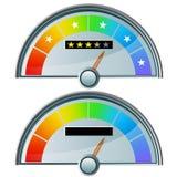värderingsstjärna för fem gauge royaltyfri illustrationer
