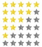 Värderingsstjärnor stock illustrationer