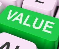Värdetangenten visar betydelse eller signifikans Arkivbild