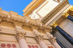 Värdiga kolonner smyckar Caesar'set Palace i Las Vegas Fotografering för Bildbyråer