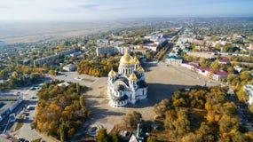 Värdsuppstigningdomkyrka Novocherkassk Ryssland Fotografering för Bildbyråer