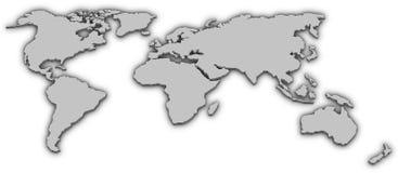 värld 3d Royaltyfria Bilder