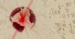 Värld av digital teknologi som kretsar lämnad animeringsepia vektor illustrationer