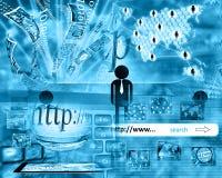 Värld av internet Arkivfoton