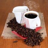 Värld av kaffe Arkivfoto