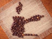 Värld av kaffe Arkivbild