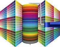 Värld av målarfärg, värld av färger Arkivbild